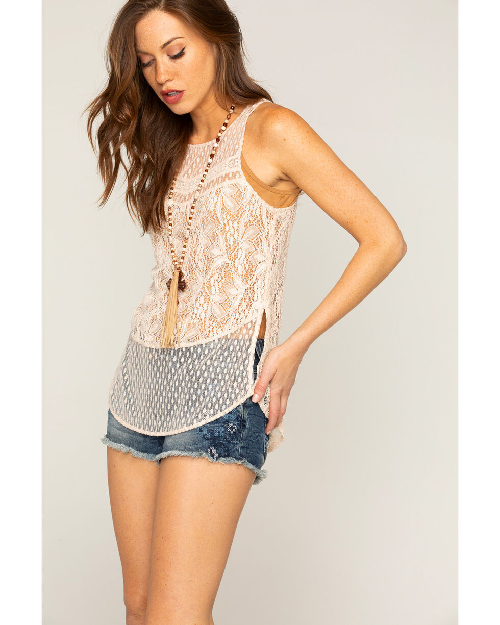 Shyanne Women's Overall Lace Tank, , hi-res
