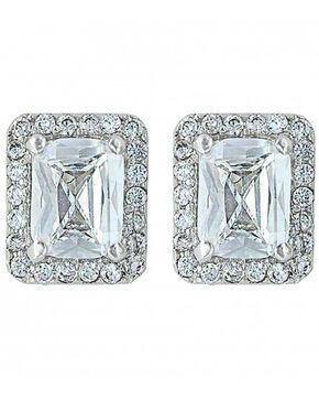 Montana Silversmiths Women's Star Bright Star Light Earrings , Silver, hi-res