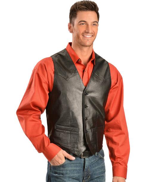 Scully Lamb Leather Vest, Black, hi-res