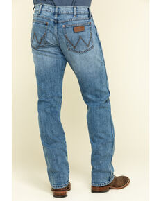 Wrangler Retro Men's Placid Blue Light Stretch Slim Straight Jeans , Blue, hi-res