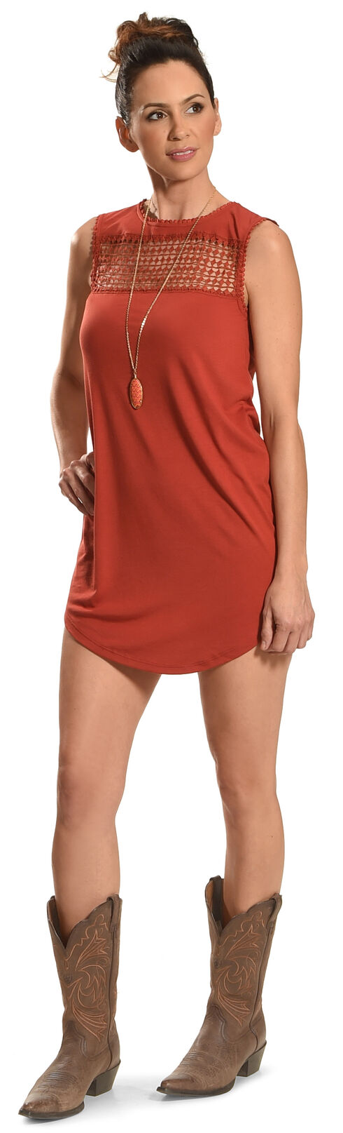 Angel Ranch Women's Red Picnic Dress , Red, hi-res