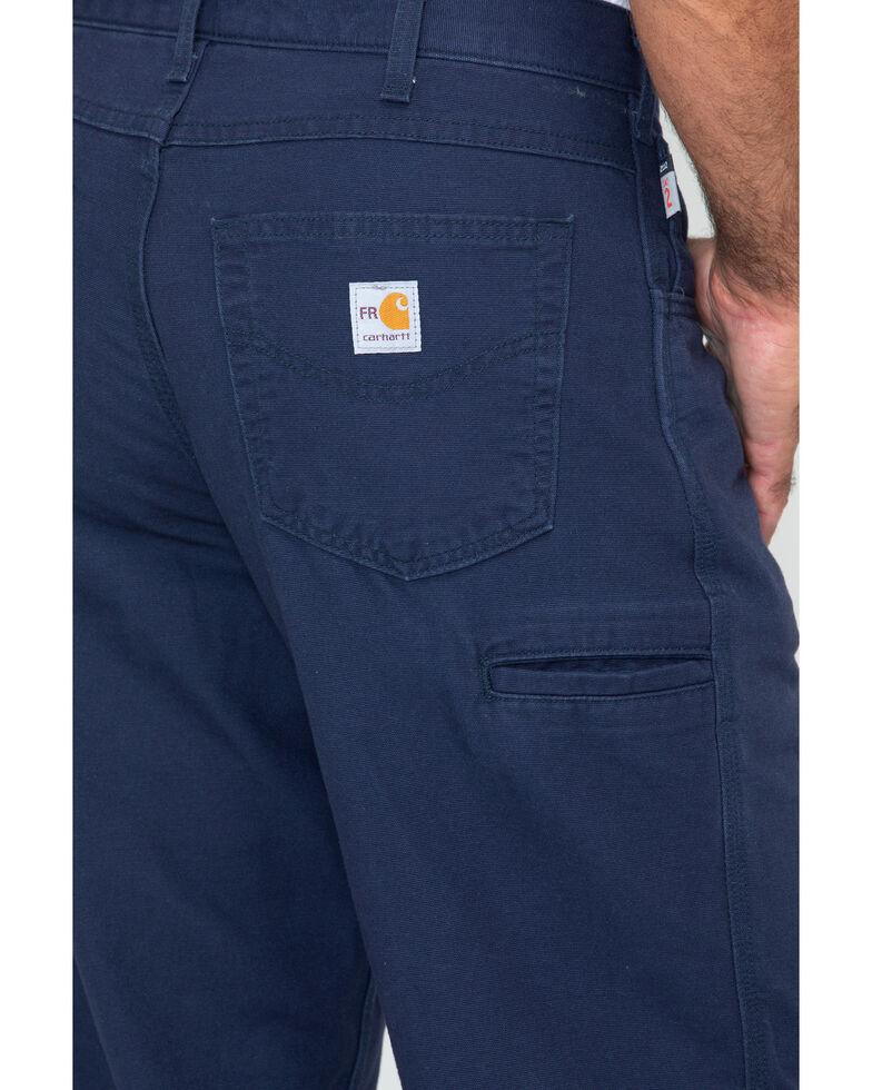 Carhartt Flame Resistant  Canvas Work Pants, Navy, hi-res