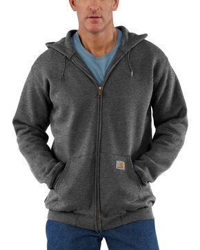 Carhartt Zip Front Work Hoodie, Medium Grey, hi-res