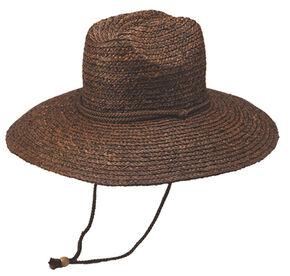 Peter Grimm Rip Straw Hat, Dark Brown, hi-res