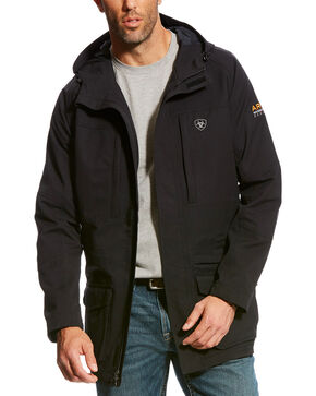 Ariat Men's Black Rebar H2OProof Work Jacket, Black, hi-res