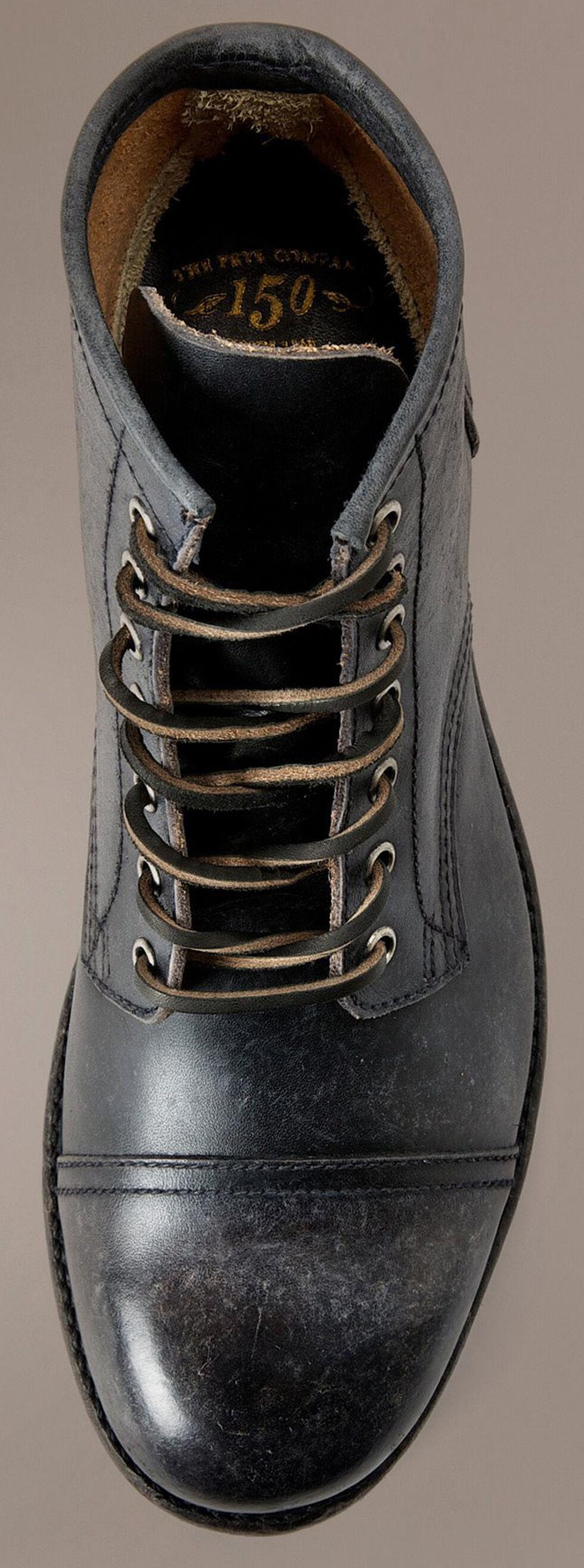 Frye Logan Cap Toe Lace Up Boots, Black, hi-res