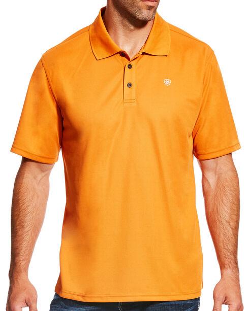 Ariat Men's Texas Orange Tek Polo Shirt, , hi-res