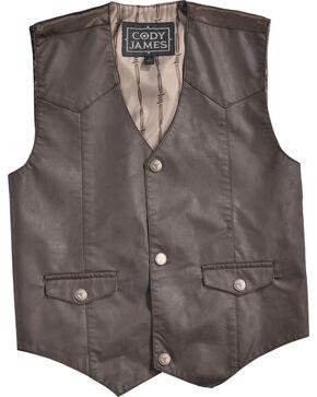 Cody James Boys' Gunslinger Vest, Brown, hi-res