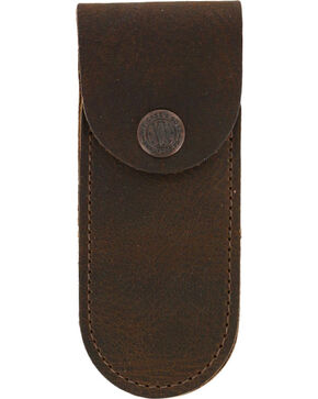 W.R. Case & Sons Medium Brown Leather Sheath, Multi, hi-res