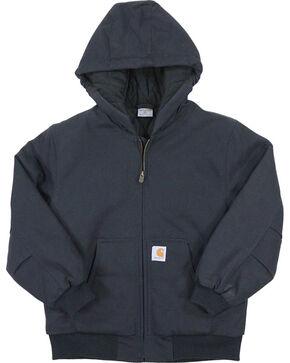 Carhartt Boys' Black Quilted Flannel Active Jacket , Black, hi-res