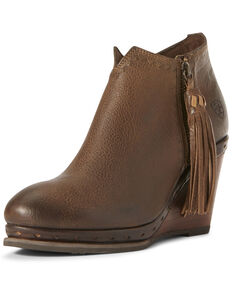 Ariat Women's Graceland Carafe Fashion Booties - Round Toe, Brown, hi-res