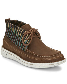 Justin Women's Breezy Casual Lace-Up Boots - Moc Toe, Brown, hi-res