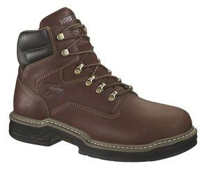"Wolverine Darco 6"" Work Boots - Steel Toe, Brown, hi-res"