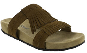 Minnetonka Women's Daisy Sandals, Brown, hi-res