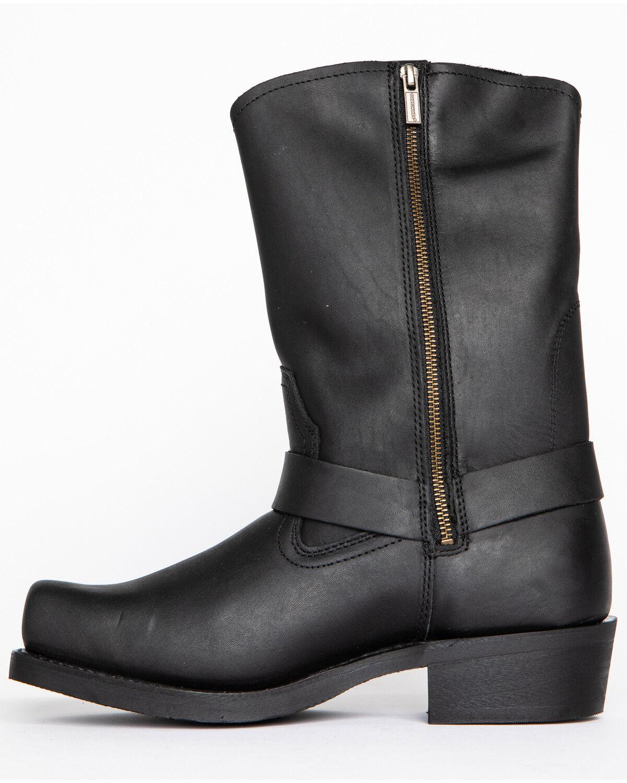 square toe boots mens black