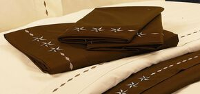 HiEnd Accents Star Sheet Set -Twin, Chocolate, hi-res