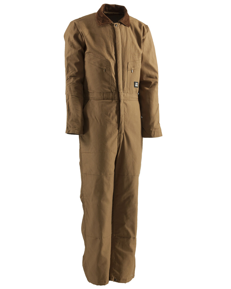 Berne Duck Deluxe Insulated Coveralls, Brown, hi-res