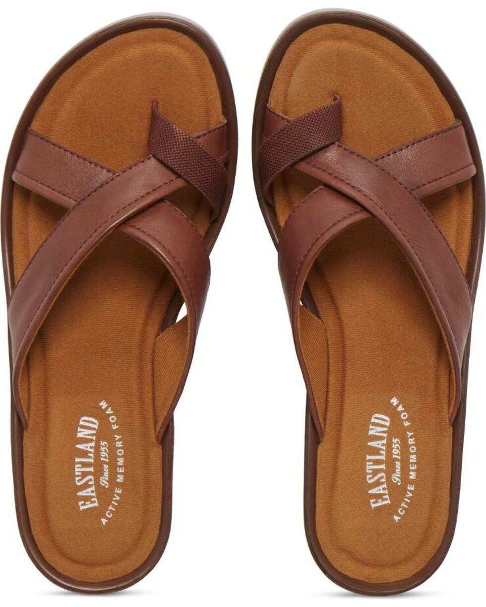 Eastland Women's Dark Walnut Willow Wedge Sandals , Brown, hi-res
