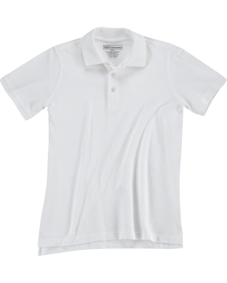 5.11 Tactical Women's Professional Short Sleeve Polo, White, hi-res