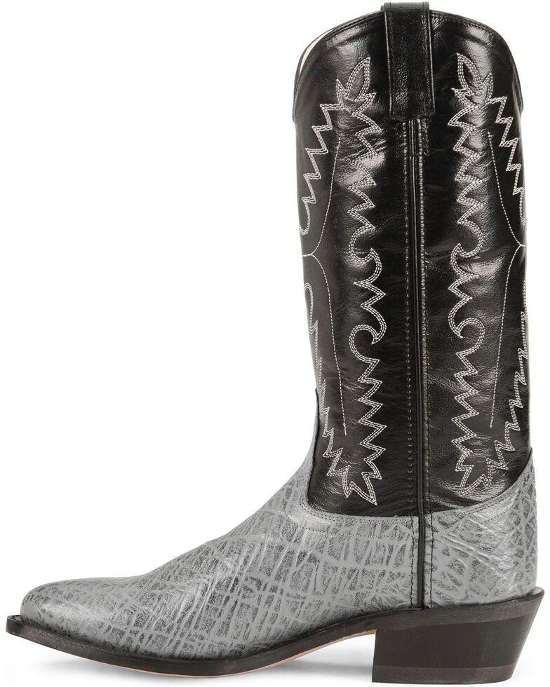 Old West Elephant Print Cowboy Boots, Grey, hi-res