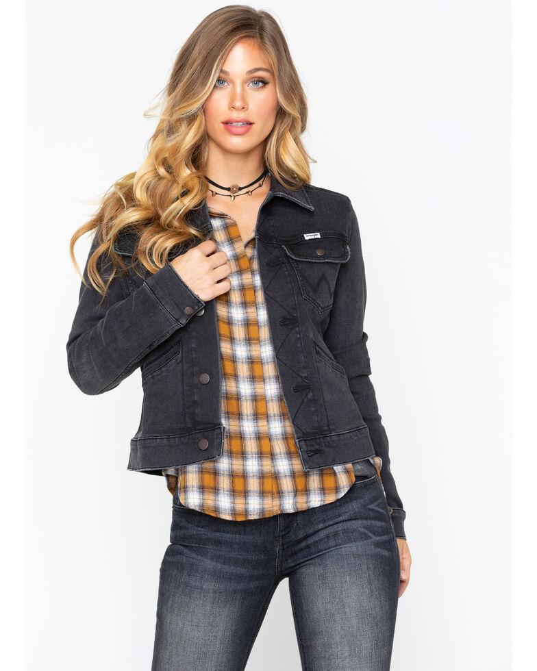 2a1fa739 Zoomed Image Wrangler Women's Modern Heritage Denim Jacket , Black, hi-res