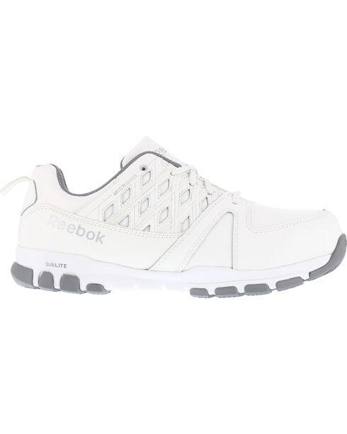 Reebok Women's Athletic Oxford Shoes - Steel Toe , White, hi-res