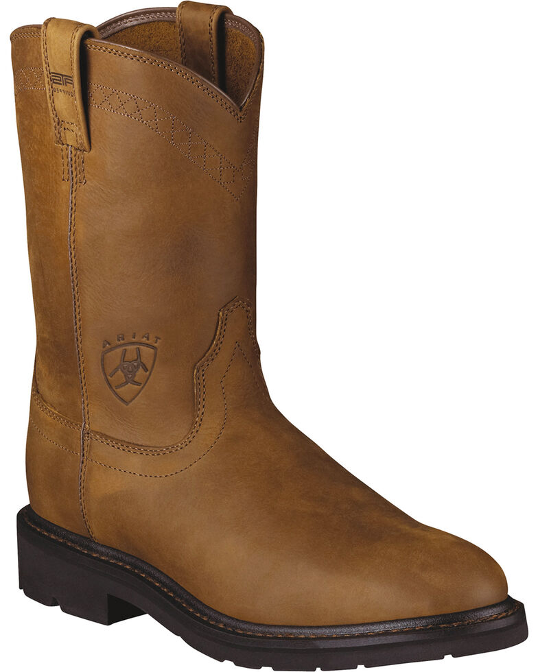 Ariat Sierra Work Boots - Steel Toe, Aged Bark, hi-res