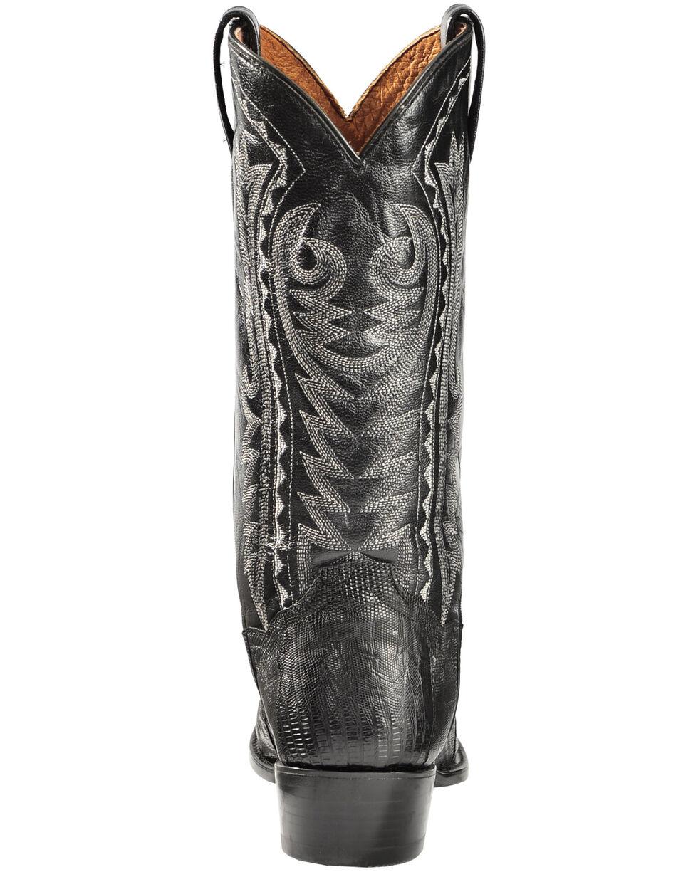 Dan Post Raleigh Black Lizard Cowboy Boots - Round Toe  , Black, hi-res