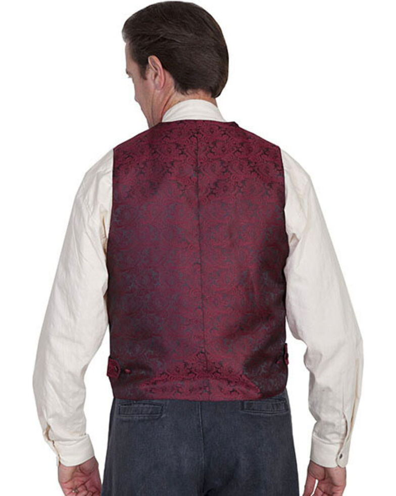 Rangewear by Scully Wide Notched Lapel Vest, Burgundy, hi-res