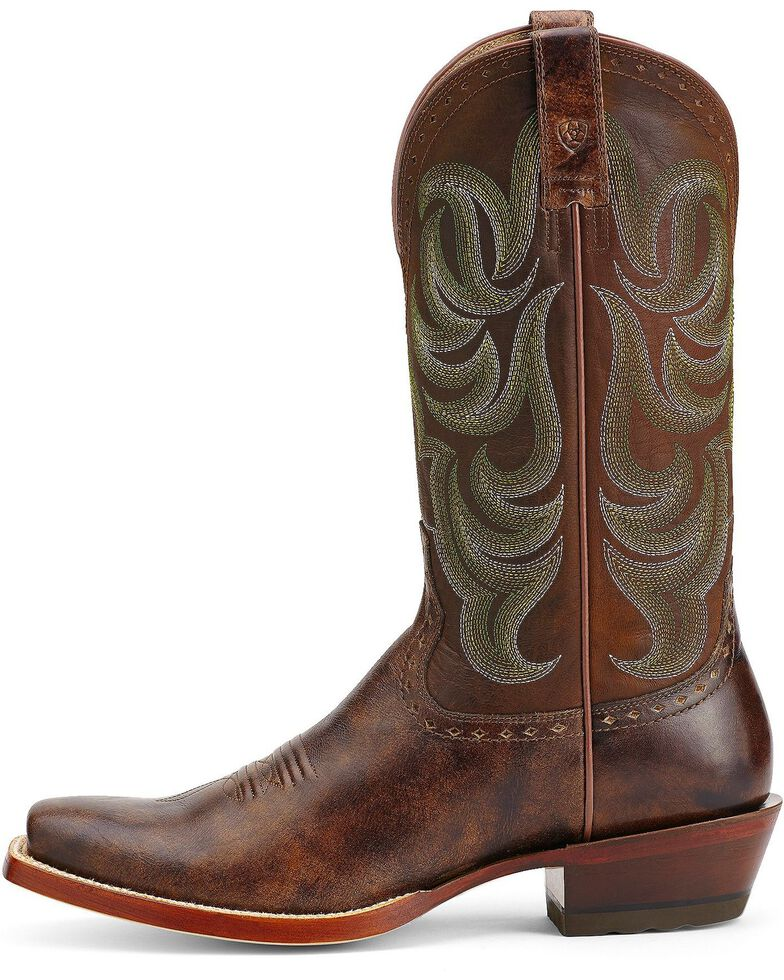 Ariat Turnback Cowboy Boots - Square Toe, Brown, hi-res