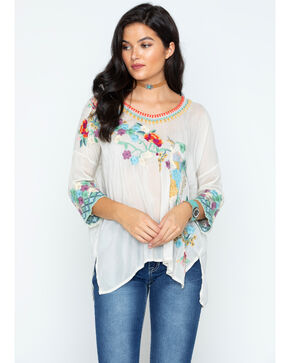 Johnny Was Women's Embroidered Merielle Blouse, Cream, hi-res