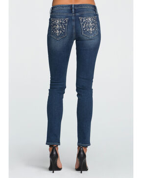 Miss Me Women's All That Sparkles Mid-Rise Skinny Jeans - Plus, Indigo, hi-res