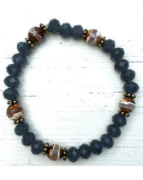 InspireDesigns Women's Blue Carbon Stretch Bracelet , Blue, hi-res