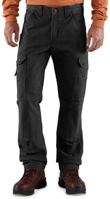 Carhartt Ripstop Cargo Work Pants, Black, hi-res