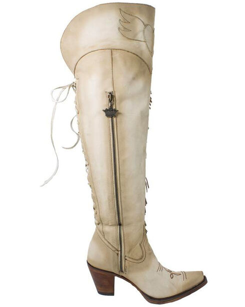 Junk Gypsy by Lane Women's Spirit Animal Tall Boots - Snip Toe , Cream, hi-res