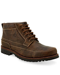 "Old West Men's 4"" Lace-Up Outdoor Boots - Soft Toe, Brown, hi-res"