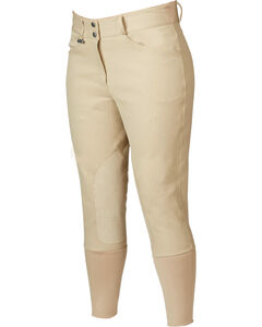 Dublin Everyday Signature Euro Seat Front Zip Breeches, Beige, hi-res