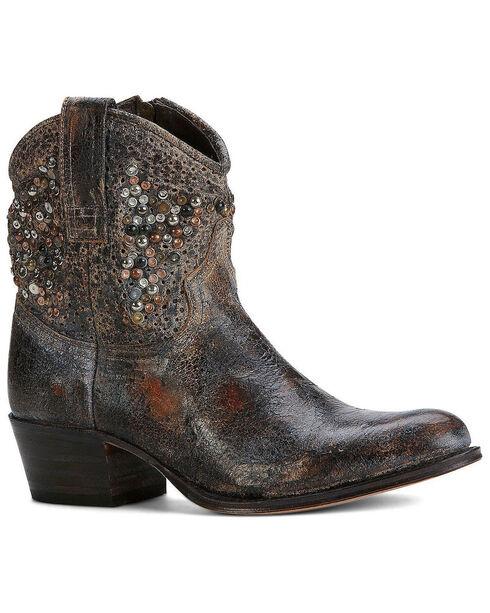 Frye Women's Deborah Studded Boots - Round Toe, Grey, hi-res