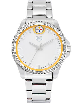 Jack Mason Women's Pittsburgh Glitz Sport Watch , Silver, hi-res