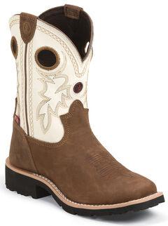 Tony Lama Youth Boys' 3R Western Boots - Square Toe, Bark, hi-res
