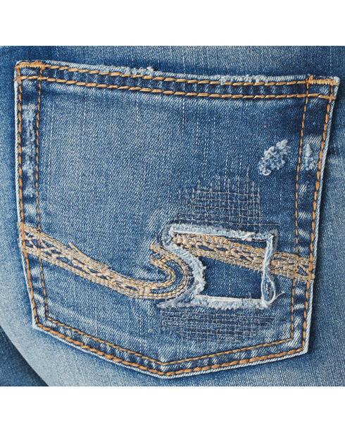 Silver Women's Girlfriend Mid Ankle Skinny Jeans  , Blue, hi-res