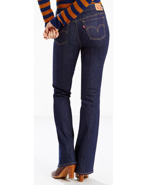 Levi's Women's 415 Classic Dark Grove Jeans - Boot Cut , Dark Blue, hi-res