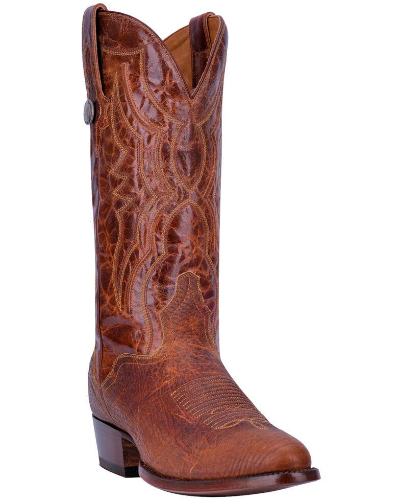 El Dorado Men's Handmade Whiskey Bison Cowboy Boots - Round Toe, Brown, hi-res