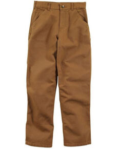 Carhartt Boys' (4-7) Brown Washed Duck Dungaree Pants , Brown, hi-res
