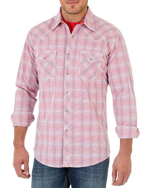 Wrangler 20X Men's long Sleeve Spread Collar Plaid Shirt - Tall, , hi-res