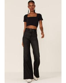 Wrangler Women's Wanderer High-Rise Flare Jeans, Black, hi-res