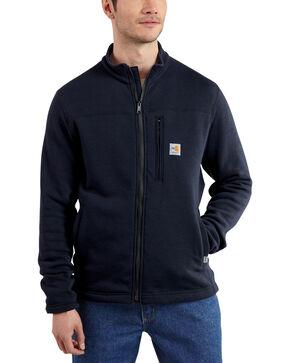 Carhartt Men's Flame Resistant Portage Fleece Jacket, Navy, hi-res