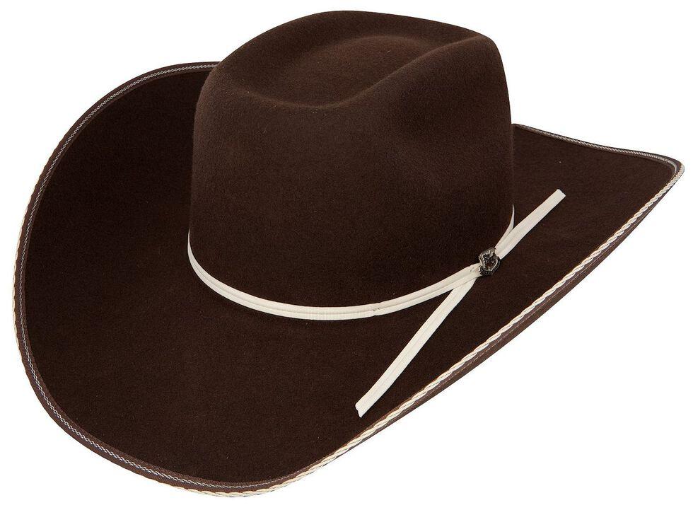 Resistol 4X Tuff Hedeman Snake Eyes Felt Cowboy Hat, Cordovan, hi-res