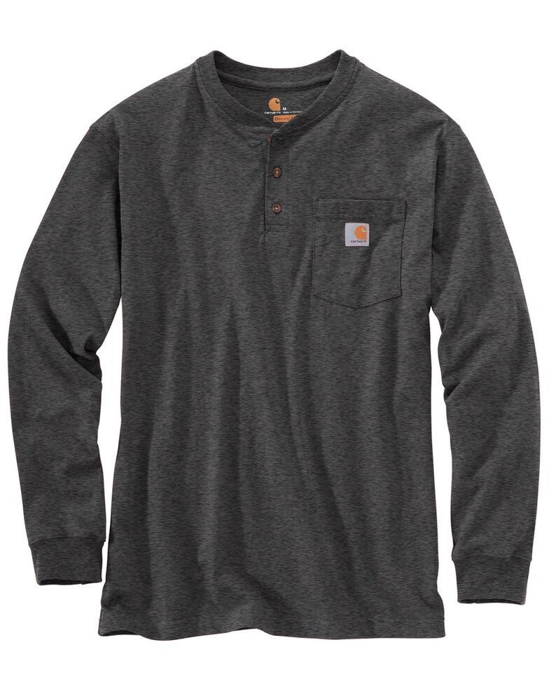 Carhartt Men's Solid Henley Long Sleeve Work Shirt - Big & Tall, Medium Grey, hi-res