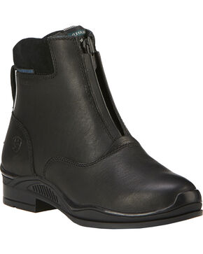 Ariat Kids' Extreme Zip H2O Insulated Paddock Boots, Black, hi-res